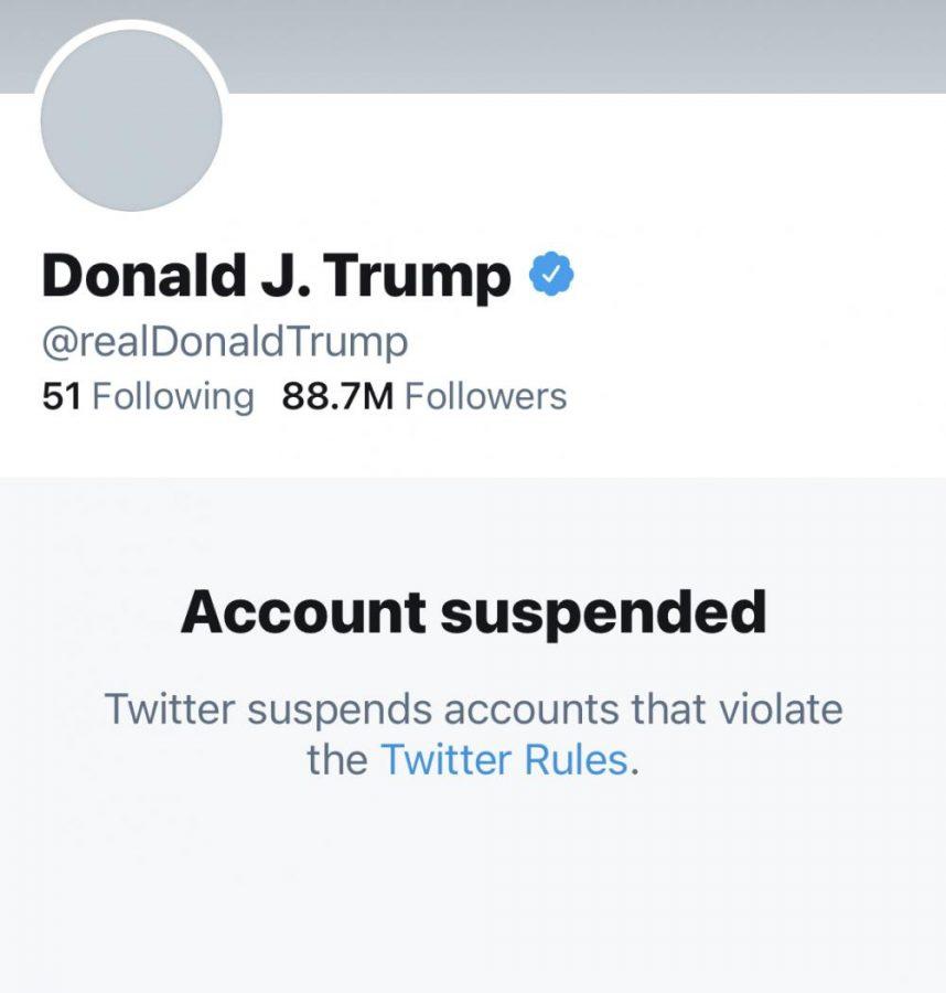 Twitter suspended Trump