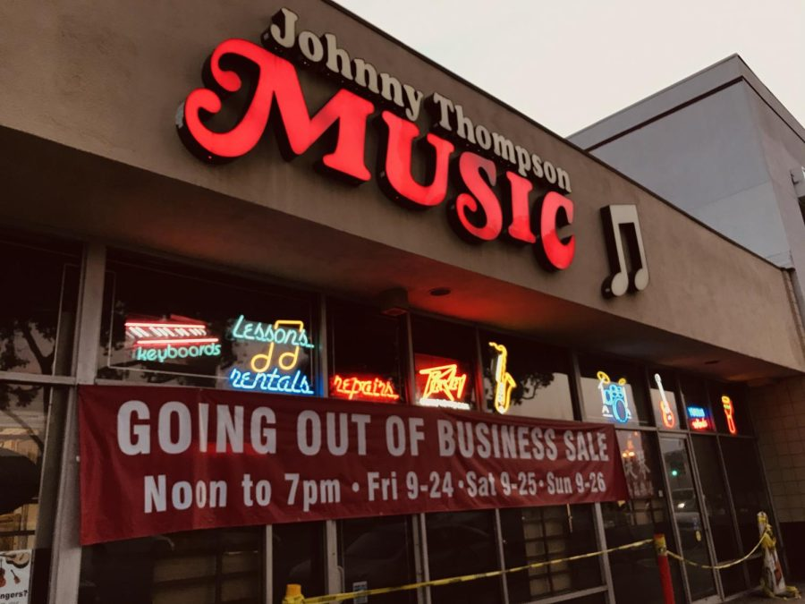 """Local Store """"Johnny Thompson Music"""" Plays its Last Number"""